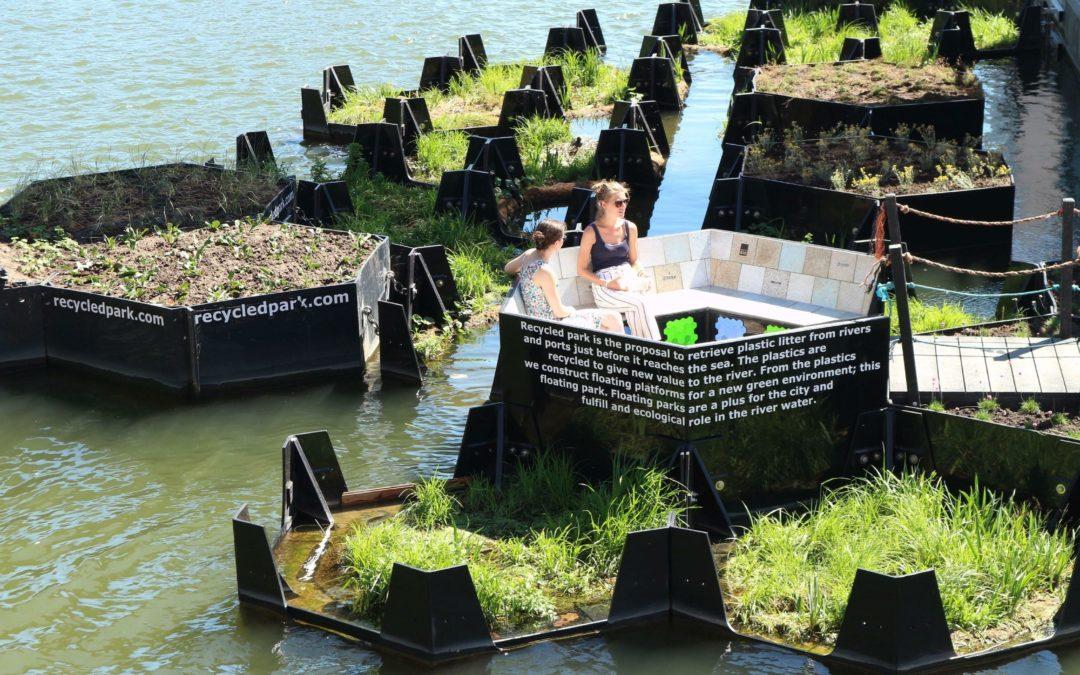 Recycling-Projekt in Rotterdam: Vom Plastikmüll zum schwimmenden Park