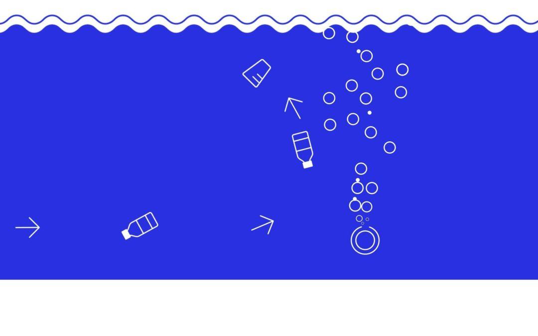 Luft-Barriere gegen Plastikmüll im Ozean