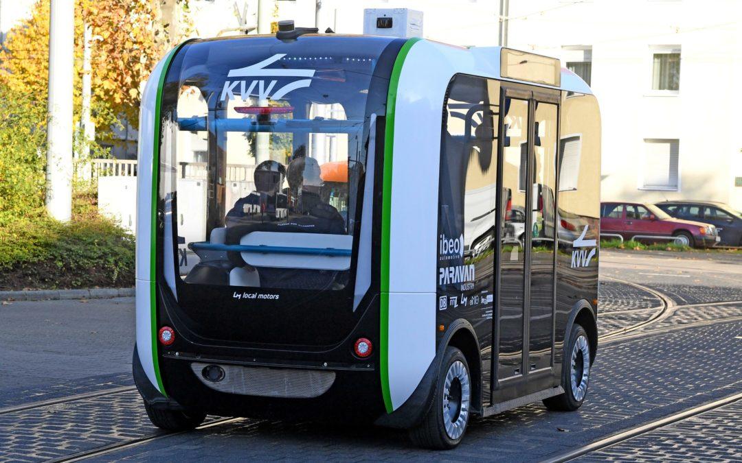 Karlsruhe: Mit dem autonomen Minibus bis vor die Haustüre
