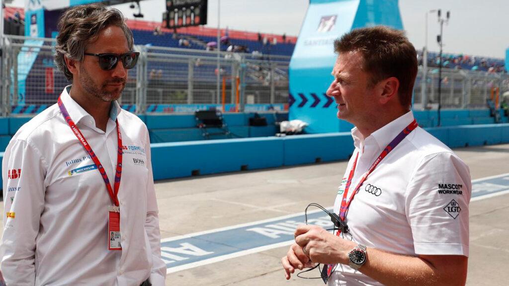 Jamie Reigle mit Alan McNish von Audi