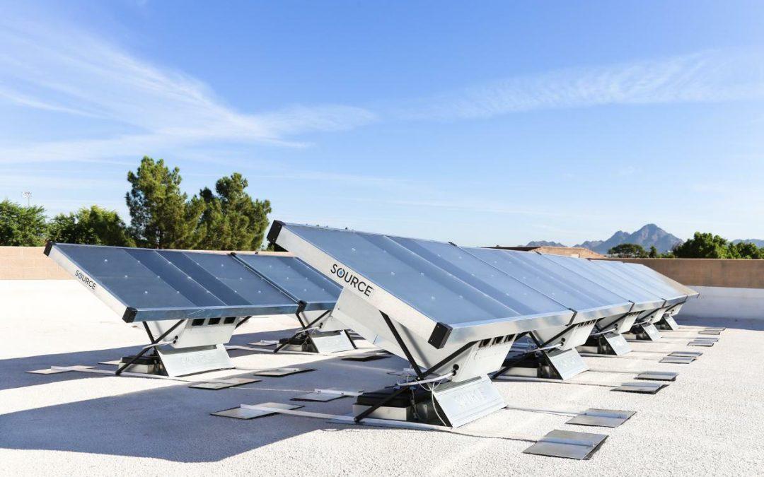 Solarpanels gewinnen Trinkwasser aus Luft