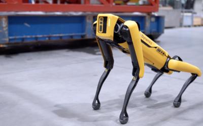 Künstlicher Hund überwacht Ölplattform