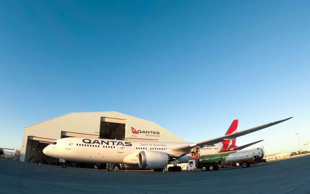 Qantas Jungfernflug mit Biotreibstoff